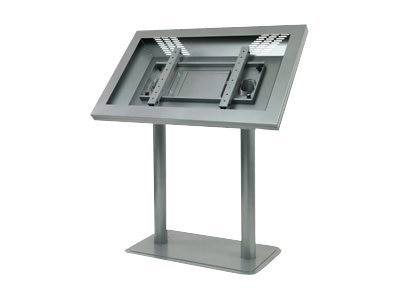 Peerless Landscape Kiosk for 46 Ultra-Thin LCD Displays, Silver, KL546-S, 13823428, Stands & Mounts - AV