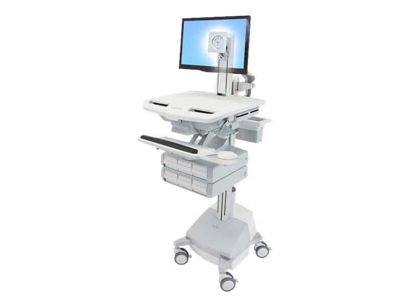 Ergotron StyleView Cart with LCD Pivot, SLA Powered, 6 Drawers, SV44-1361-1