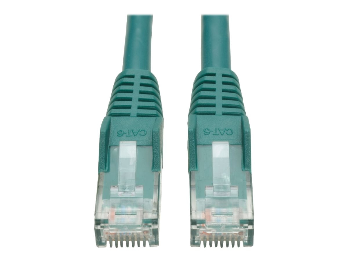 Tripp Lite Cat6 Gigabit Snagless Molded Patch Cable- Green, 1ft