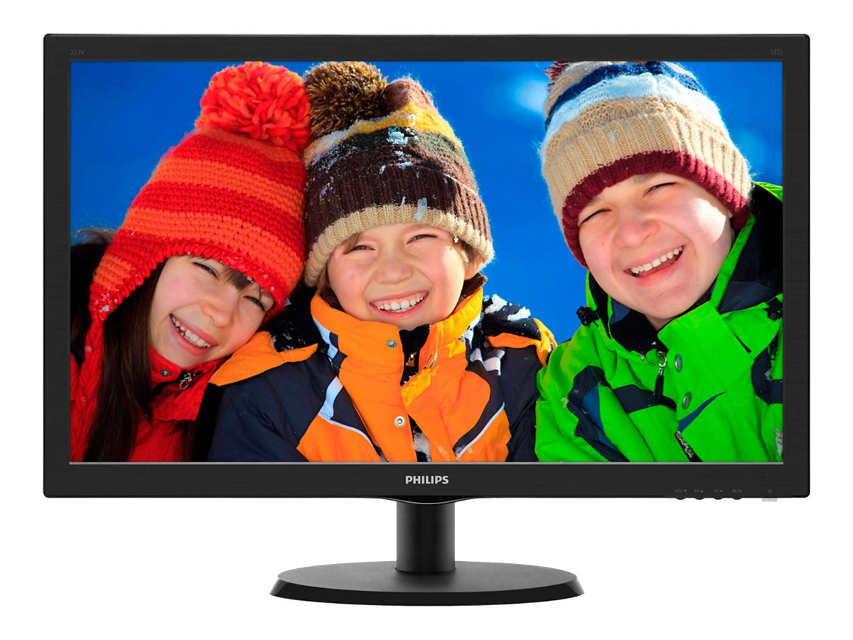 Philips 21.5 223V5LSB Full HD LED-LCD Monitor with SmartControl Lite, Black, 223V5LSB, 17862301, Monitors - LED-LCD