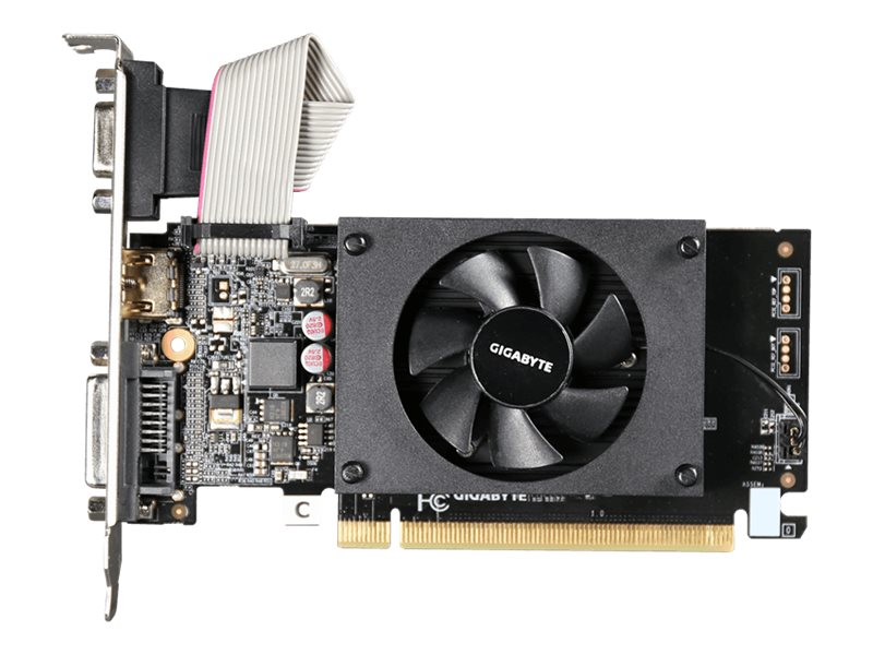 Gigabyte Tech GeForce GT710 PCIe 2.0 Graphics Card, 2GB DDR3, GV-N710D3-2GL, 31493864, Graphics/Video Accelerators