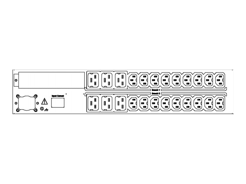 Server Technology Smart PIPS PDU, 2U, (18) HDOT IEC C13 + (6) HDOT C19, CS-24H2C4B3H2