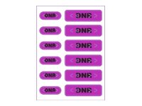 Zebra 2.5 x 3.5 Pet DNR Alert Labels - Purple (12 Labels-Per-Sheet 1000-Sheets)
