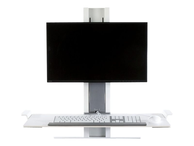 Humanscale QuickStand Light Workstation with Large Platform, White