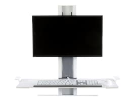 Humanscale QuickStand Light Workstation with Large Platform, White, QSWL30, 17960817, Furniture - Miscellaneous