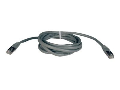 Tripp Lite Cat5e 350MHz Shielded Patch Cable, Gray, 10ft, N105-010-GY, 5916051, Cables