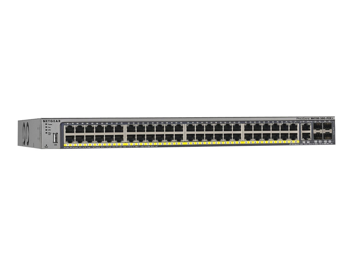 Netgear ProSafe M4100-50-PoE+ Managed Switch, GSM7248P-100NES, 15409642, Network Switches