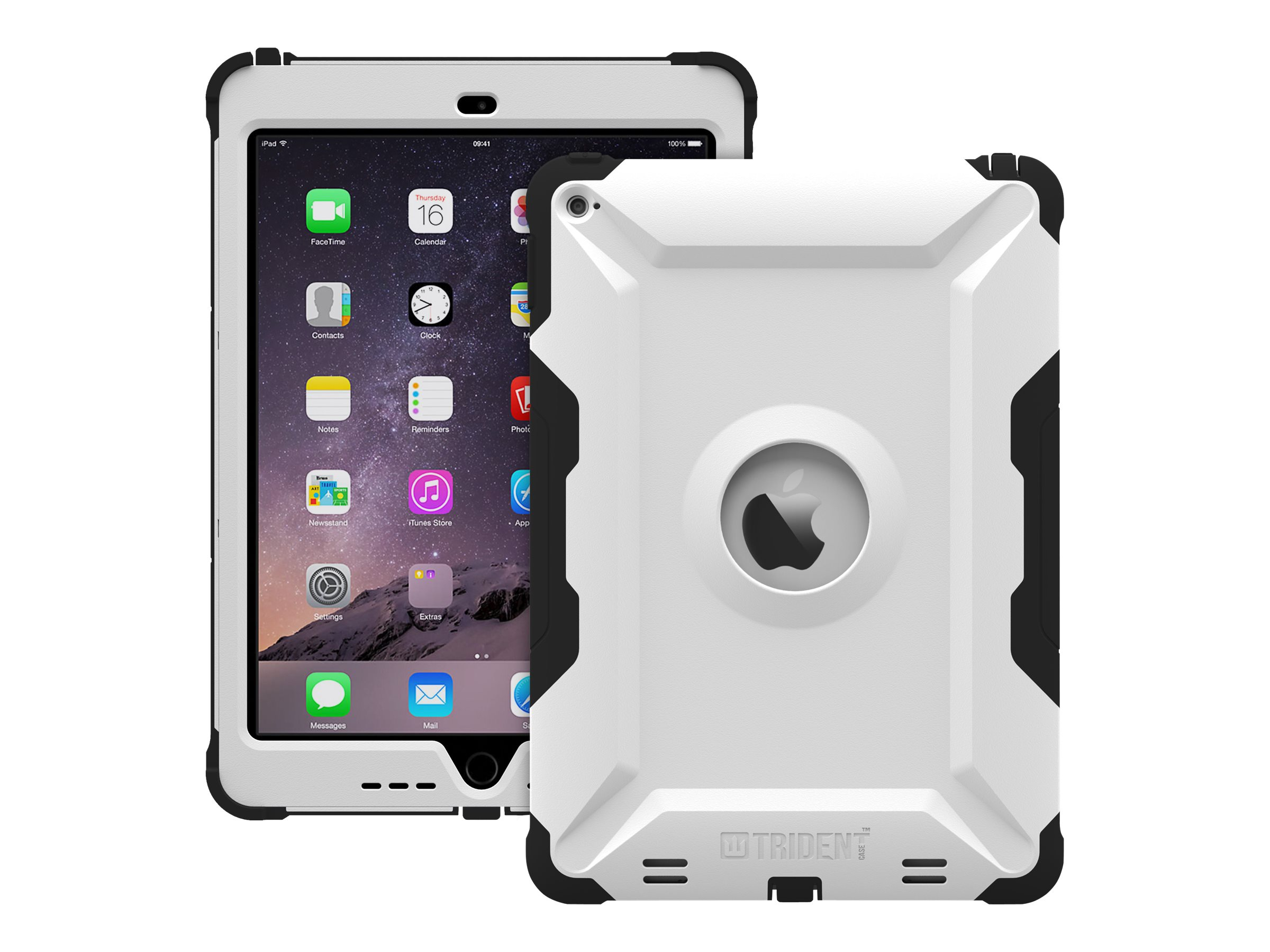 Trident Case 2015 Kraken AMS Case for iPad Air 2, White, KN-APIPA2-WT000, 18401831, Carrying Cases - Tablets & eReaders