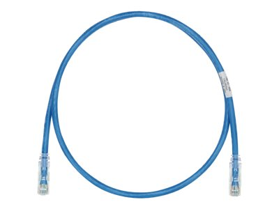 Panduit Cat6e 28AWG UTP CM LSZH Copper Patch Cable, Blue, 42ft
