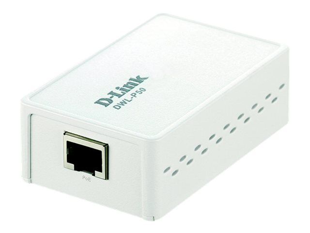 D-Link Power over Ethernet (PoE) Adapter 802.3af Compliant 5V 12V DC Output, DWL-P50