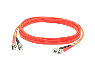 ACP-EP ST-ST 62.5 125 OM1 Multimode LSZH Duplex Fiber Cable, Orange, 2m