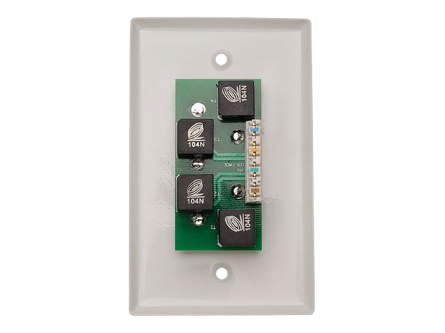 Tripp Lite Component Video with Stereo Audio-over-Cat5 Remote Extender Wallplate, B136-100-WP