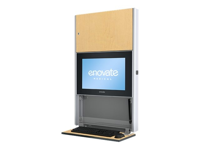 Enovate 550 Lite Wall Station with eLift, Hard Rock Maple, E550T4-N4W-00HR-0, 15728934, Computer Carts - Medical