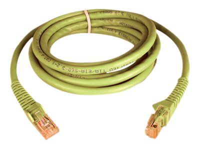 Tripp Lite Cat6 UTP Gigabit Ethernet Snagless Patch Cable, Yellow, 7ft, N201-007-YW, 6113073, Cables