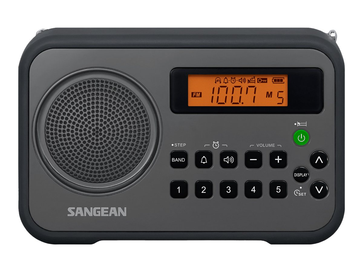 Sangean AM FM Digital Tuning Portable Receiver - Black, PR-D18BK