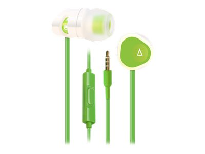 Creative Labs MA200 Headset for Mobile Phones, White Green, 51EF0600AA013, 15988390, Headsets (w/ microphone)