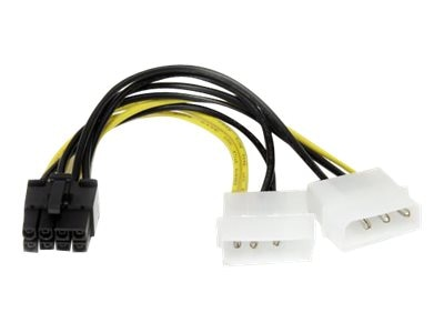 StarTech.com LP4 to 8-Pin PCI Express Video Card Power Cable Adapter, 6in, LP4PCIEX8ADP