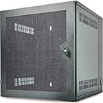 APC NetShelter WX 13U Enclosure with Threaded Hole Vertical Mounting Rail, Vented Front Door, Black