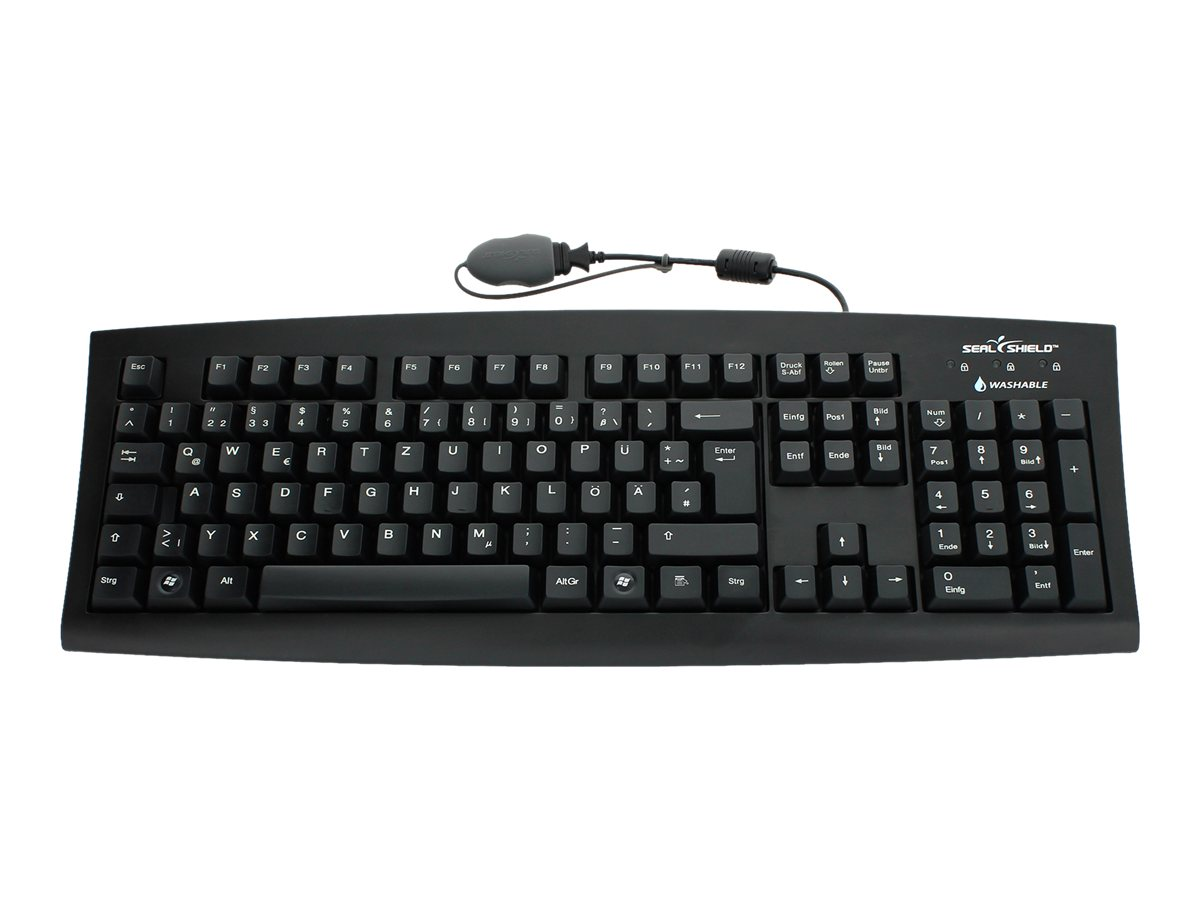 Seal Shield Silver Seal Medical Grade Keyboard, Dishwasher Safe & Antimicrobial, SSKSV108CZ, 16103565, Keyboards & Keypads