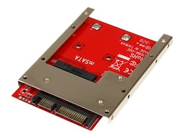 StarTech.com mSATA Solid State Drive to 7mm High 2.5 SATA 6Gb s Open Bracket Solid State Drive Adapter, SAT32MSAT257, 16965237, Drive Mounting Hardware