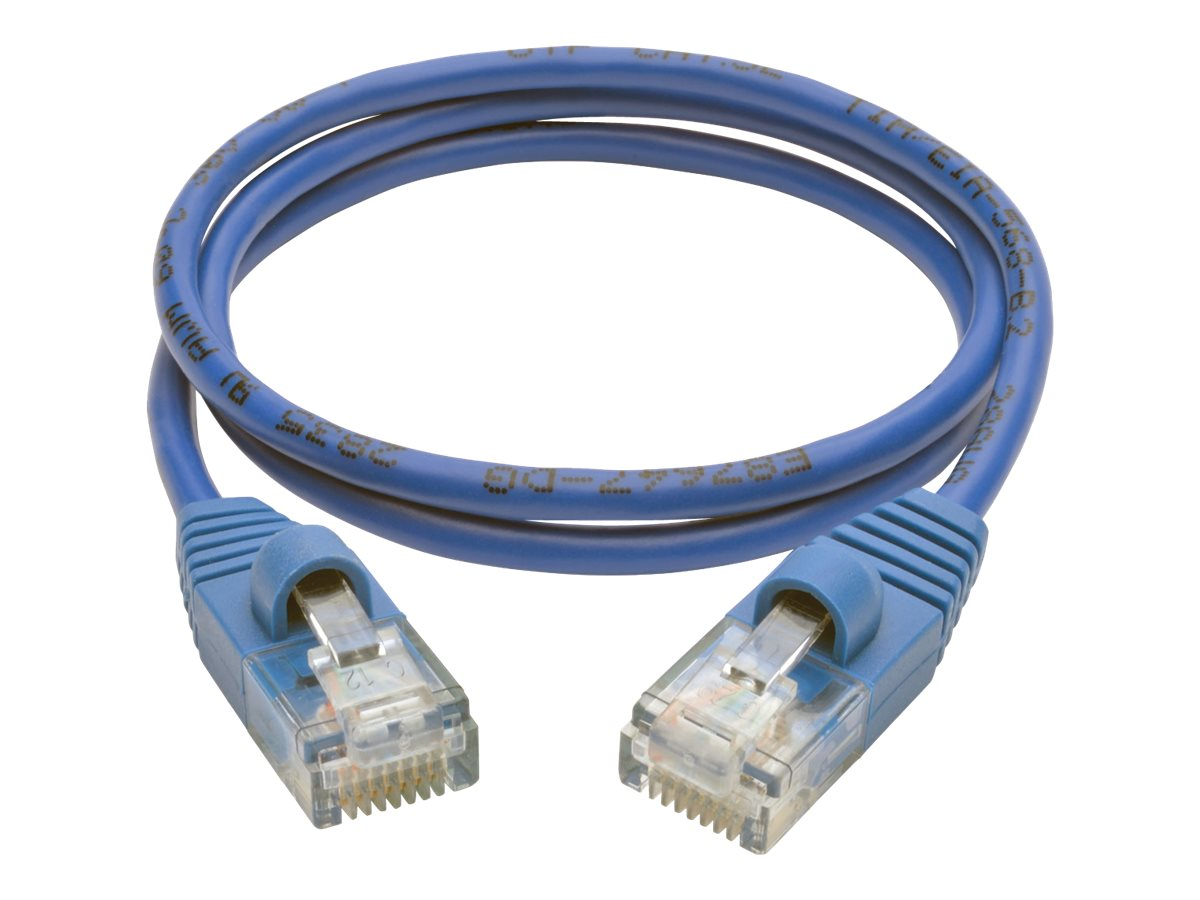 Tripp Lite Cat5e 350MHz Snagless Molded Slim UTP Patch Cable, Blue, 2ft, N001-S02-BL