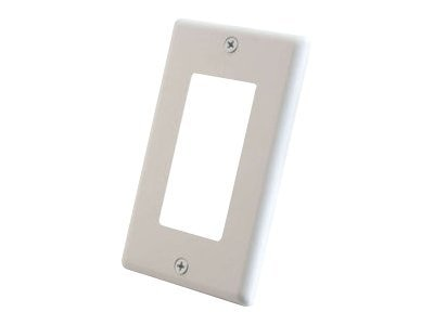 C2G Wall Plate Single Gang Aluminum Decora, White
