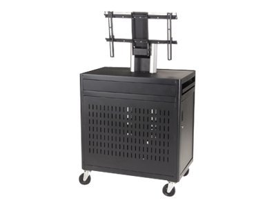 Da-Lite Multi-Media Flat Panel Cart, Black, 8325, 13632331, Projector Accessories