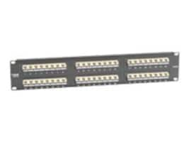 Black Box SpaceGAIN CAT5e 45 Degree Angled-Port Patch Panel, 48 Up Ports, JPM5E48-45ANG-UU, 32891178, Patch Panels
