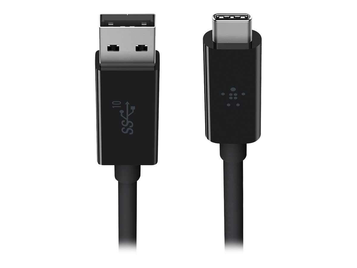 Belkin USB 3.1 Type C (USB-C) to USB Type A M M Cable, Black, 3ft, F2CU029BT1M-BLK, 25876148, Cables