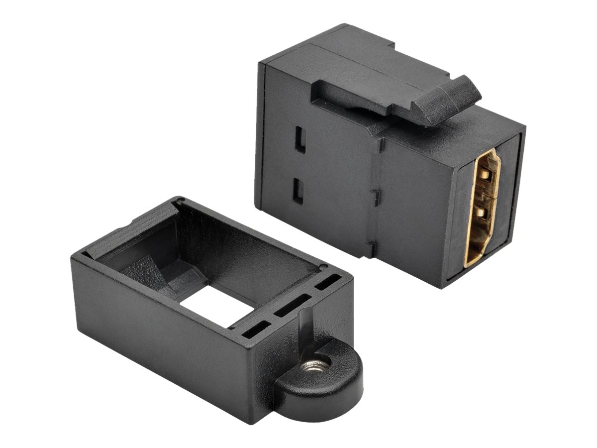 Tripp Lite HDMI All-in-One Keystone Panel Mount Coupler, Black, P164-000-KP-BK