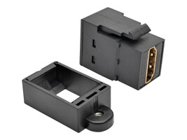Tripp Lite HDMI All-in-One Keystone Panel Mount Coupler, Black, P164-000-KP-BK, 32134610, Video Extenders & Splitters