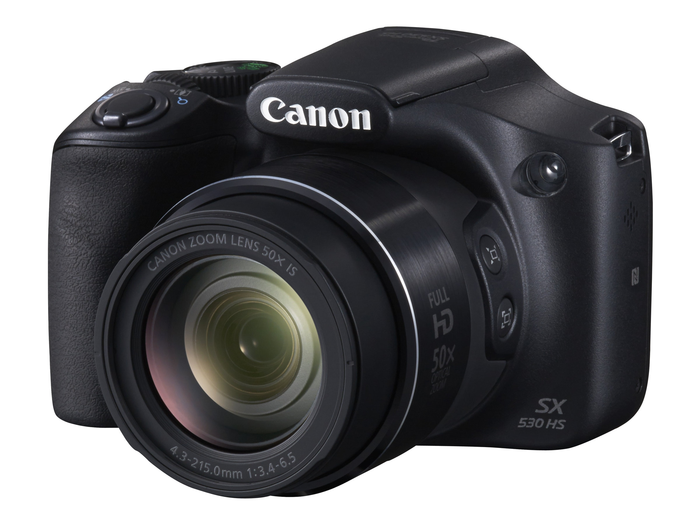 Canon PowerShot SX530 HS Camera, 16MP, 50x Zoom, Black