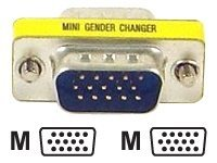 Micro Connectors HDDB15 (M-M) VGA Gender Changer, G05-300SL, 7467623, Adapters & Port Converters