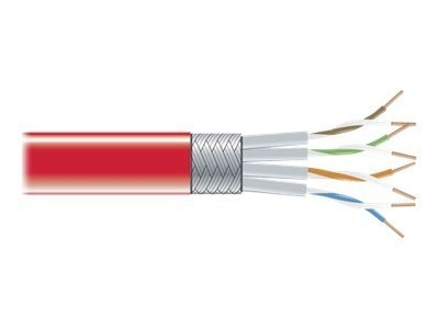 Black Box CAT6 250MHz Stranded Bulk Patch Cable, Red, 1000ft