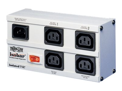 Tripp Lite Isobar Ultra Surge (4) Outlet 6ft Cord 220 240V IEC 330 Joules, EURO-4, 109801, Surge Suppressors