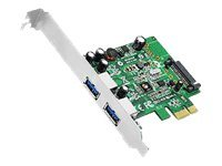 Siig DP 2-port USB 3.0 PCIe Controller, JU-P20612-S1, 14488123, Controller Cards & I/O Boards