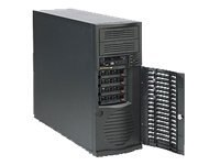 Supermicro MidTower Chassis, 2xBays, 500W PSU, Black, CSE-733TQ-500B, 13219600, Cases - Systems/Servers