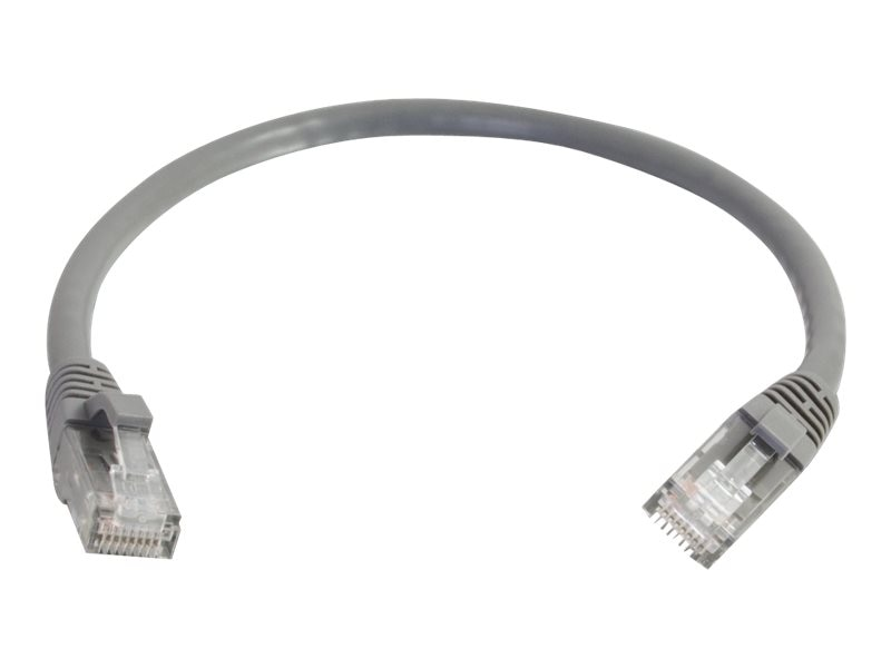 C2G Cat6 Snagless Unshielded (UTP) Network Patch Cable - Gray, 2ft