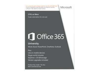 Microsoft Corp. Office 365 University ESD, R4T-00009, 31936451, Software - Office Suites