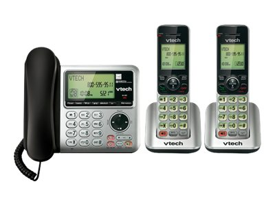 Vtech CS6649-2 DECT 6.0 Cordless Phone with Answering Machine, 2-Handsets