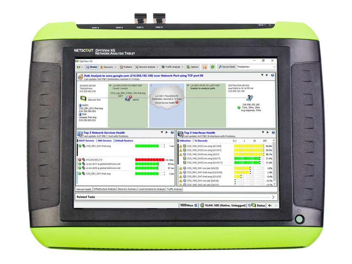 OptiView XG Network Analysis Tablet Pro