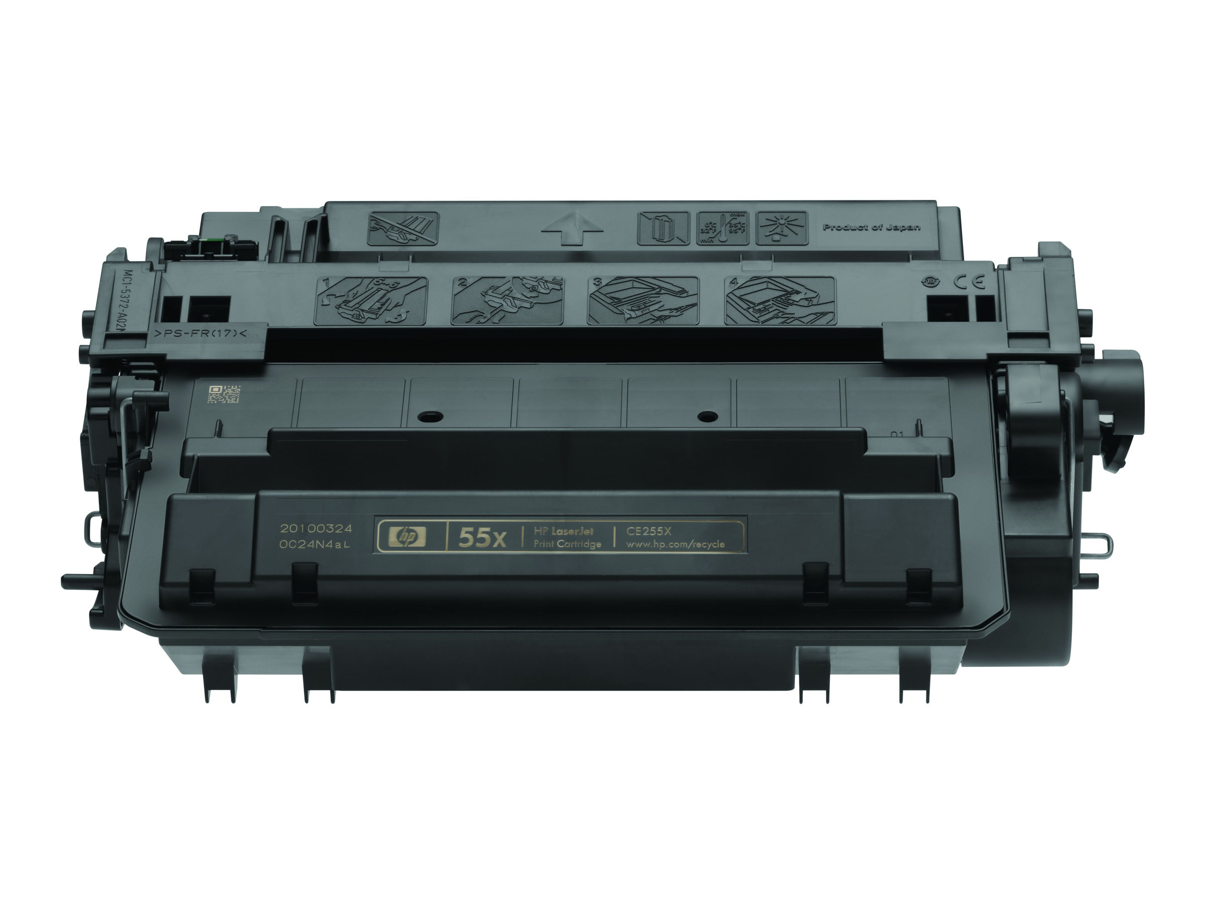 HP 55X (CE255XD) 2-pack High Yield Black Original LaserJet Toner Cartridges for HP LaserJet P3015, CE255XD, 12277808, Toner and Imaging Components