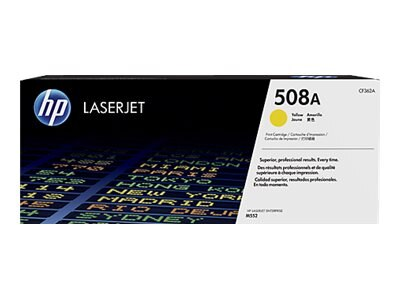 HP 508A Yellow LaserJet Toner Cartridge e  JetIntelligence for M552 M553 series