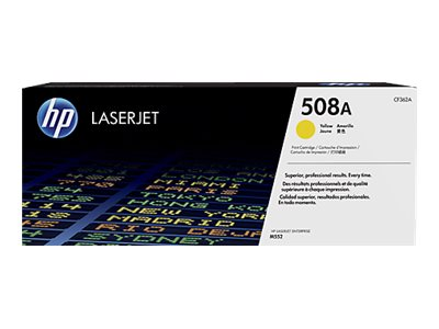 HP 508A Yellow LaserJet Toner Cartridge e  JetIntelligence for M552 M553 series, CF362A, 19054818, Toner and Imaging Components
