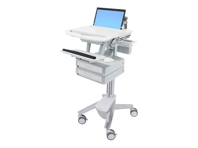 Ergotron StyleView Laptop Cart, 1 Drawer, SV43-1110-0, 18024529, Computer Carts - Medical