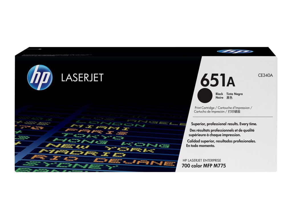 HP 651A (CE340A) Black Original LaserJet Toner Cartridge