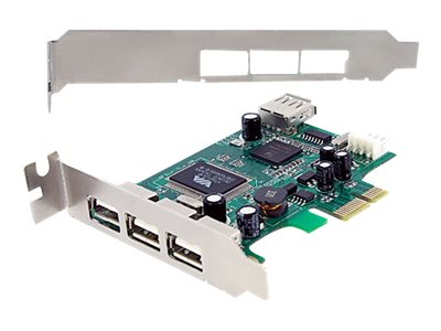 StarTech.com 4 Port PCI Express Low Profile High Speed USB 2.0 Adapter Card, PEXUSB4DP