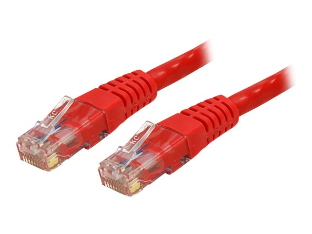 StarTech.com Cat6 UTP 500MHz Gigabit Ethernet Patch Cable, Red, Molded, 100ft, C6PATCH100RD
