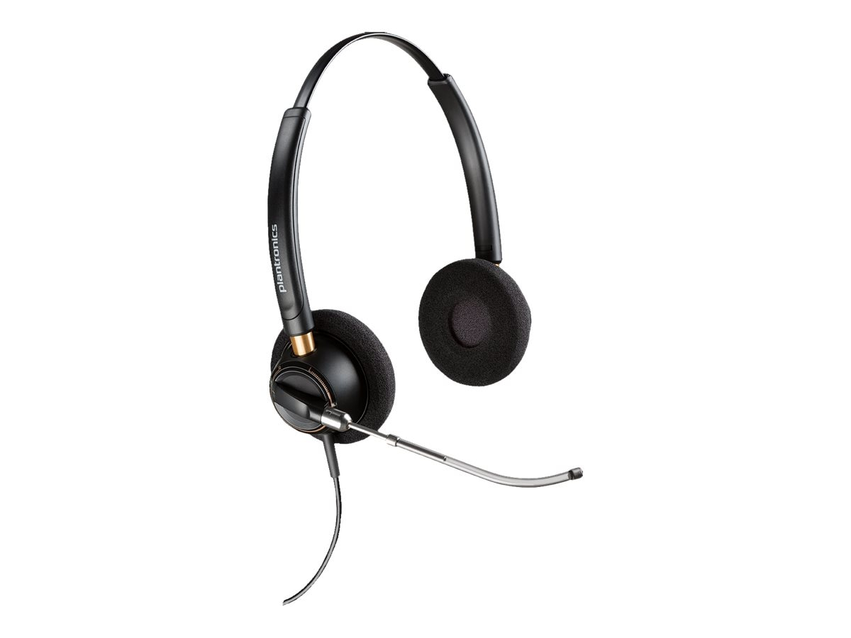 Plantronics HW520V Encore Voice Tube Noise Cancelling Headset w  Mic, 89436-01
