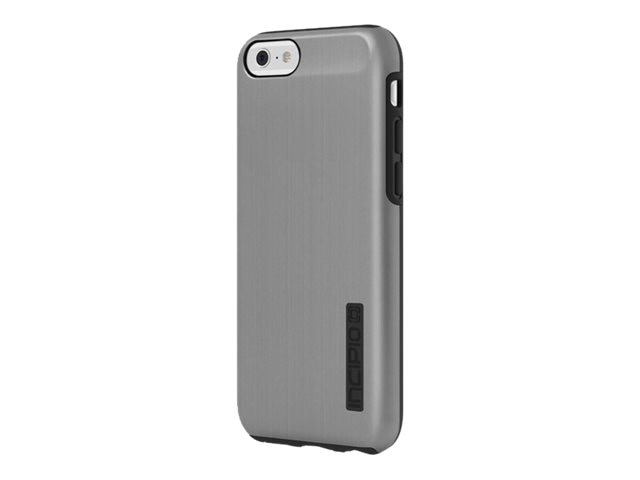 Incipio DualPro SHINE Dual Layer Protection w  Brushed Aluminum Finish for iPhone 6 6s, Gunmetal Black